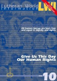Give Us Today Our Human Rights - LWF Assembly