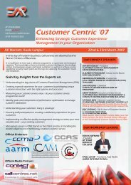 Enhancing Strategic Customer Experience Management ... - EMP Asia