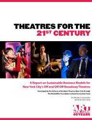 THEATRES FOR THE 21ST CENTURY - The Alliance of Resident ...