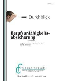 Berufsunfähigkeits- absicherung Durchblick - fc finanz consult