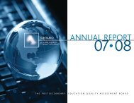 annual report - Postsecondary Education Quality Assessment Board