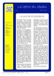La lettre du Réseau N°2 - Saint-Louis Réseau Sein