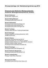 TOP 10 - Badischer Wein