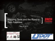 Mapping Tools and the Road to Zero Fatalities - ITE Western District