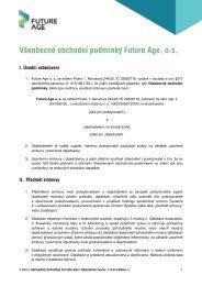 Obchodní podmínky - Future Age os