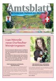 Lisa Männle neue Durbacher Weinprinzessin