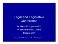 Client-Provided Workers Compensation Policies - Bmnlaw.com