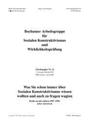 Bochumer Arbeitsgruppe für Sozialen Konstruktivismus und ...