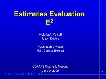 Estimates Evaluation E (Squared)