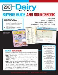 2013 Annual Buyer's Guide - Dairy Foods Magazine