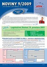 Noviny 9/2009 - Ježek software