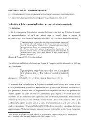 V. La théorie de la grammaticalisation : ses concepts et sa ...