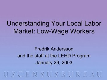 Understanding your local labor market: Low wage workers