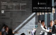 one programs - the Faculty of Arts & Science - University of Toronto