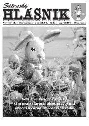 Súčanský hlásnik 2001 číslo 1 (pdf) - Horná Súča