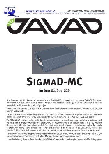 SigmaD-MC - Instrumentation Devices