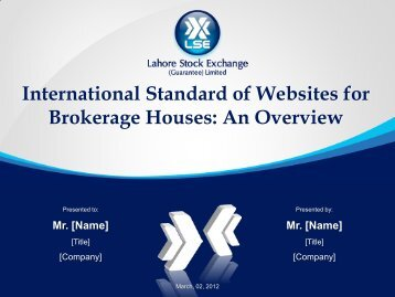 International Standard of Websites for Brokerage Houses