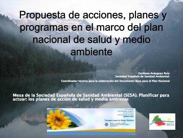 Programas específicos - Sociedad Española de Sanidad Ambiental