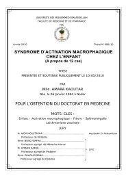 SYNDROME D'ACTIVATION MACROPHAGIQUE CHEZ L ... - Toubkal