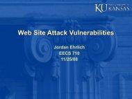 Web Site Attack Vulnerabilities