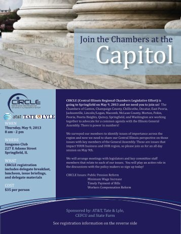` Join the Chambers at the - Pekin Area Chamber of Commerce