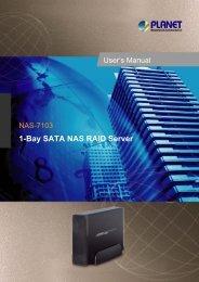 1-Bay SATA NAS RAID Server - Planet