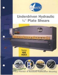 Atlantic HDE Hdez Plate Shear Brochure - Sterling Machinery