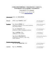 Úvod Seznamu přednášek - CMTF