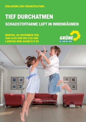 TIEF DURCHATMEN - Bündnis 90/Die Grünen im Landtag NRW