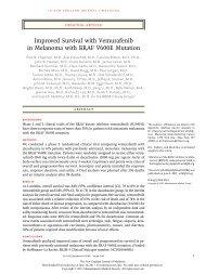 Improved Survival with Vemurafenib in Melanoma with BRAF V600E ...