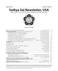 May - June - USA Sai Organization - International Sri Sathya Sai ...