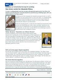 Rot-Grün wirbt für WestLB-Pläne (WDR vom 29.06.2011)