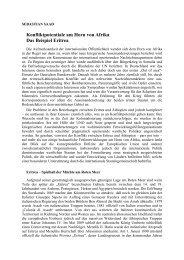 Konfliktpotentiale am Horn von Afrika Das Beispiel Eritrea