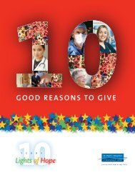 good REASoNS To gIVE 10Y - St. Paul's Hospital Foundation