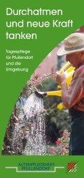 Durchatmen und neue Kraft tanken - in Pfullendorf!