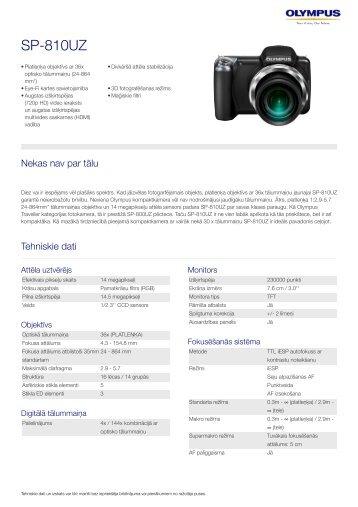SP-810UZ, Olympus, Compact Cameras