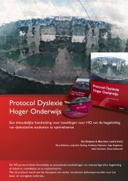 Protocol Dyslexie Hoger Onderwijs