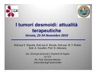 I tumori desmoidi: attualità terapeutiche Verona, 23-24 Novembre ...