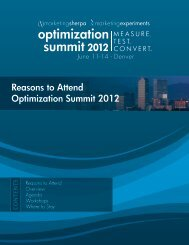 7 Reasons to Attend Optimization Summit 2012 - meclabs