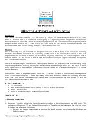 Job Description DIRECTOR of FINANCE and ACCOUNTING
