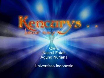 Oleh: Nasrul Fatah Agung Nurjana Universitas ... - Indonesia Kreatif