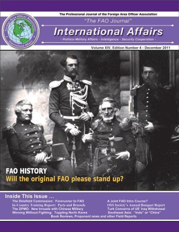 FAO HISTORY Will the original FAO please stand up? - Faoa