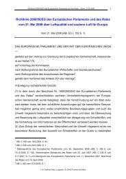 Richtlinie 2008/50/EG des Europäischen Parlaments und des Rates ...