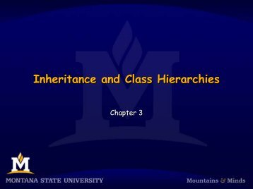 Inheritance and Class Hierarchies