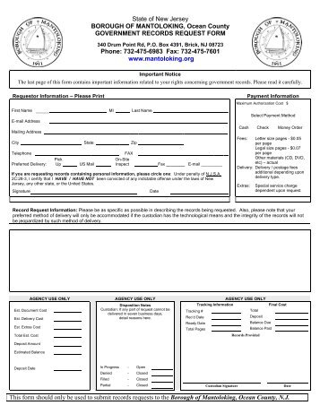 OPEN PUBLIC RECORDS ACT REQUEST FORM - Maywood