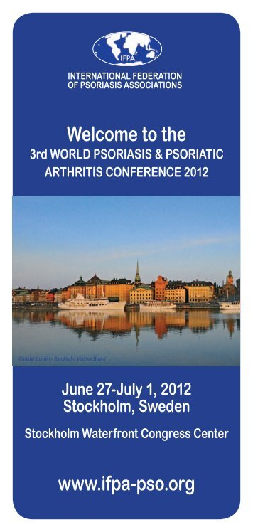 flyer for the 3rd World Psoriasis and Psoriatic Conference