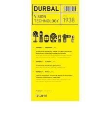DURBAL Produktkatalog / Product Catalog 01.2011