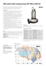 ABS submersible sewage pumps AFP-ME4 to ME6 SX 50 Hz