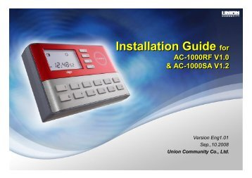 Installation Guide for Installation Guide for - E-alarmy