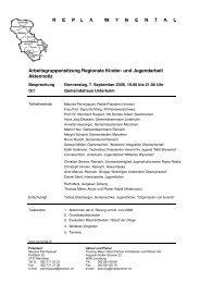 Arbeitsgruppensitzung Regionale Kinder- und ... - Reinach